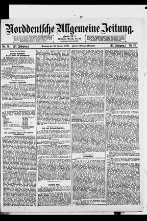 Norddeutsche allgemeine Zeitung vom 25.01.1903