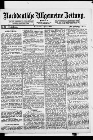 Norddeutsche allgemeine Zeitung vom 07.02.1903