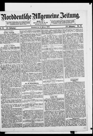 Norddeutsche allgemeine Zeitung vom 14.02.1903