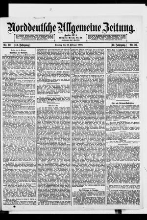 Norddeutsche allgemeine Zeitung vom 15.02.1903
