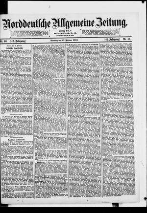Norddeutsche allgemeine Zeitung vom 17.02.1903