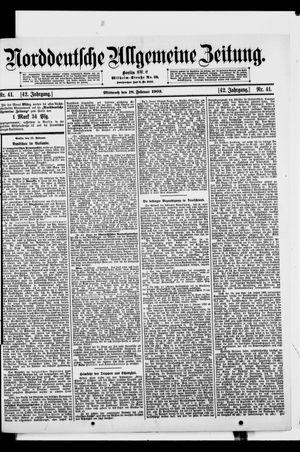 Norddeutsche allgemeine Zeitung vom 18.02.1903