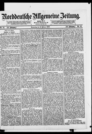 Norddeutsche allgemeine Zeitung vom 19.02.1903