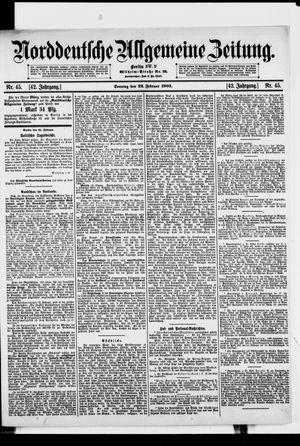 Norddeutsche allgemeine Zeitung vom 22.02.1903