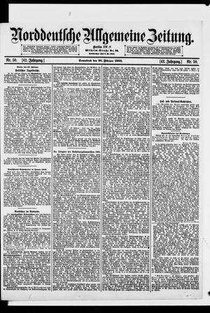Norddeutsche allgemeine Zeitung vom 28.02.1903