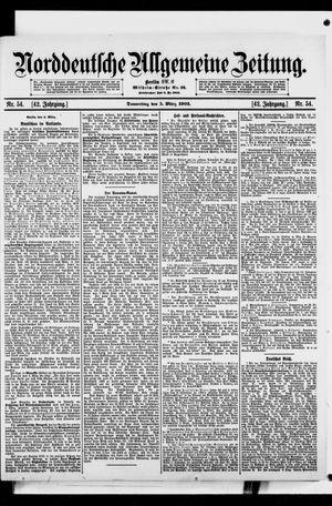 Norddeutsche allgemeine Zeitung vom 05.03.1903