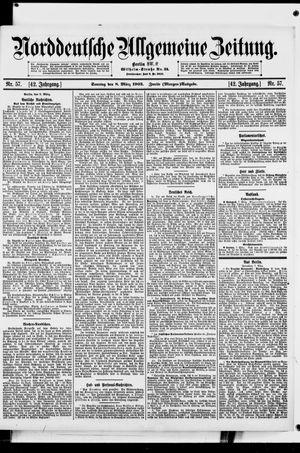 Norddeutsche allgemeine Zeitung vom 08.03.1903