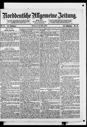 Norddeutsche allgemeine Zeitung vom 10.03.1903