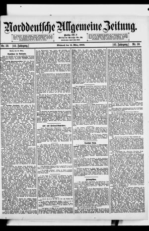 Norddeutsche allgemeine Zeitung on Mar 11, 1903