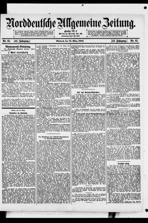 Norddeutsche allgemeine Zeitung vom 18.03.1903