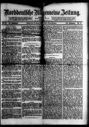 Norddeutsche allgemeine Zeitung vom 14.01.1906