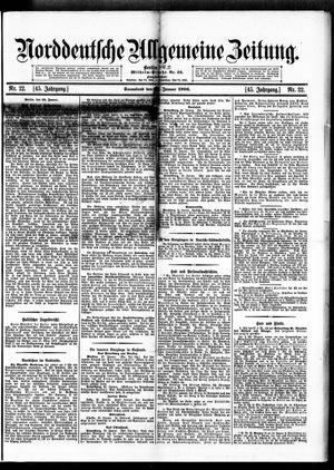 Norddeutsche allgemeine Zeitung vom 27.01.1906
