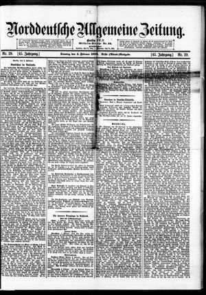 Norddeutsche allgemeine Zeitung on Feb 4, 1906