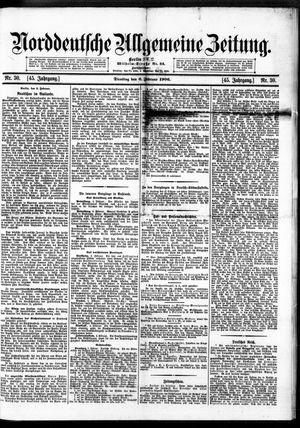 Norddeutsche allgemeine Zeitung vom 06.02.1906