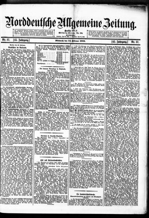 Norddeutsche allgemeine Zeitung on Feb 14, 1906