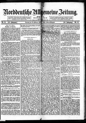 Norddeutsche allgemeine Zeitung vom 18.02.1906