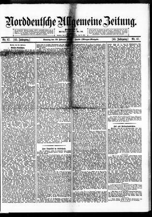 Norddeutsche allgemeine Zeitung vom 25.02.1906