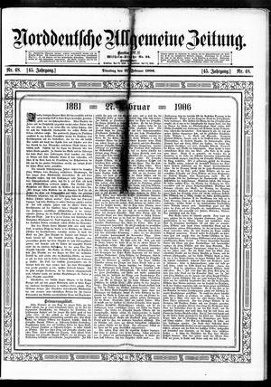 Norddeutsche allgemeine Zeitung vom 27.02.1906