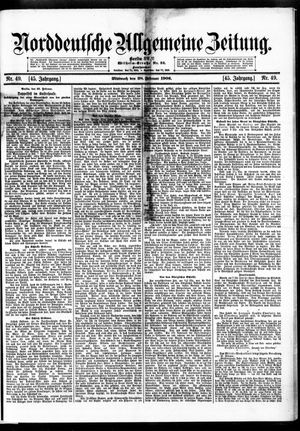Norddeutsche allgemeine Zeitung vom 28.02.1906