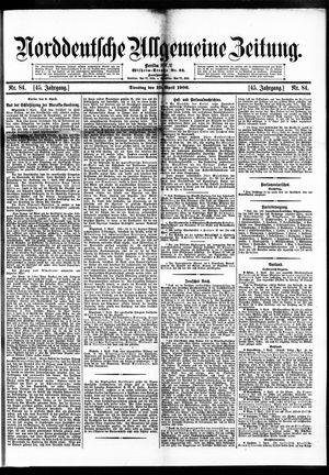 Norddeutsche allgemeine Zeitung vom 10.04.1906