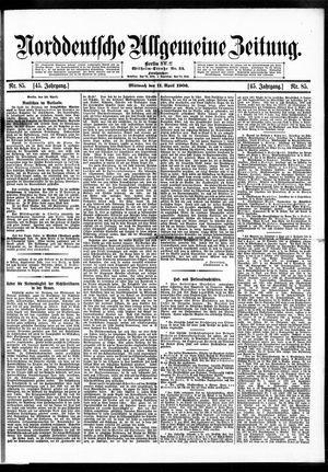 Norddeutsche allgemeine Zeitung vom 11.04.1906