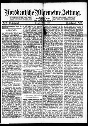 Norddeutsche allgemeine Zeitung vom 13.04.1906