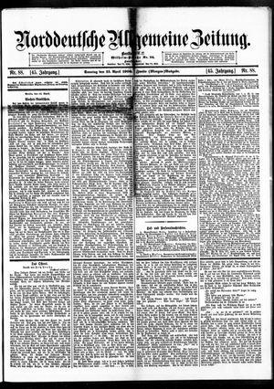 Norddeutsche allgemeine Zeitung vom 15.04.1906