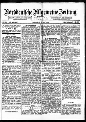 Norddeutsche allgemeine Zeitung vom 19.04.1906