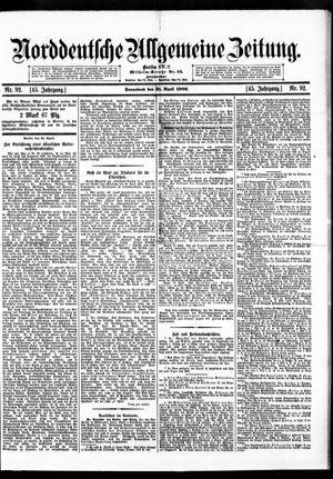 Norddeutsche allgemeine Zeitung vom 21.04.1906