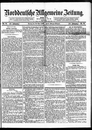 Norddeutsche allgemeine Zeitung vom 22.04.1906
