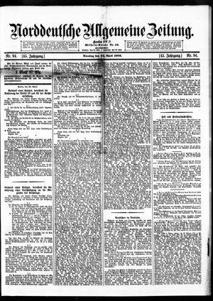 Norddeutsche allgemeine Zeitung vom 24.04.1906