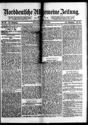 Norddeutsche allgemeine Zeitung vom 26.04.1906
