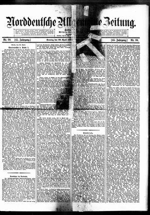 Norddeutsche allgemeine Zeitung vom 29.04.1906