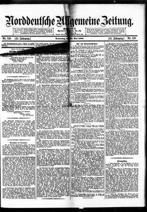 Norddeutsche allgemeine Zeitung vom 24.05.1906