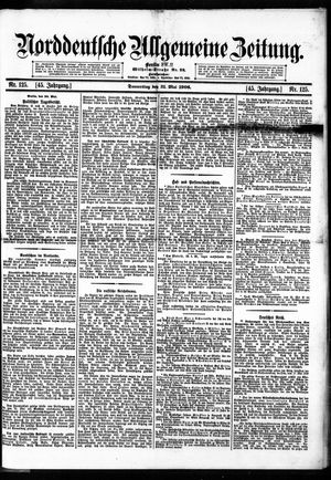 Norddeutsche allgemeine Zeitung vom 31.05.1906