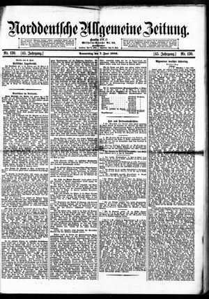 Norddeutsche allgemeine Zeitung vom 07.06.1906