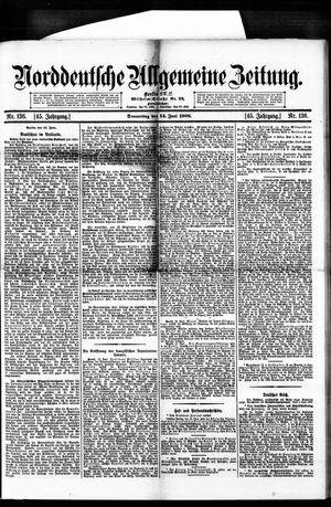 Norddeutsche allgemeine Zeitung vom 14.06.1906