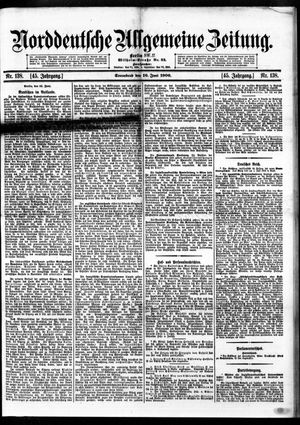 Norddeutsche allgemeine Zeitung vom 16.06.1906