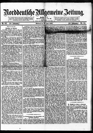 Norddeutsche allgemeine Zeitung vom 20.06.1906