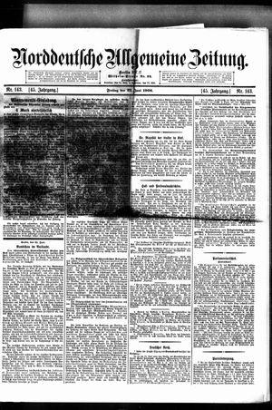 Norddeutsche allgemeine Zeitung vom 22.06.1906