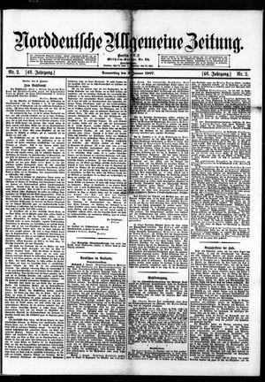 Norddeutsche allgemeine Zeitung vom 03.01.1907
