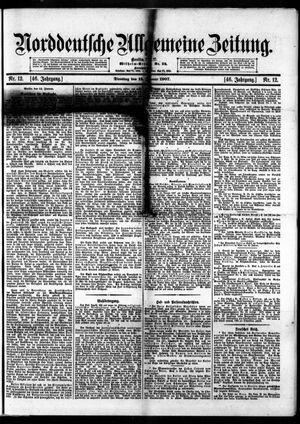 Norddeutsche allgemeine Zeitung vom 15.01.1907