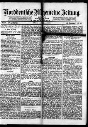 Norddeutsche allgemeine Zeitung vom 16.01.1907