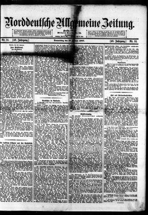 Norddeutsche allgemeine Zeitung vom 17.01.1907
