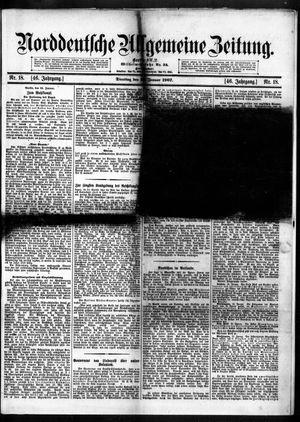 Norddeutsche allgemeine Zeitung vom 22.01.1907
