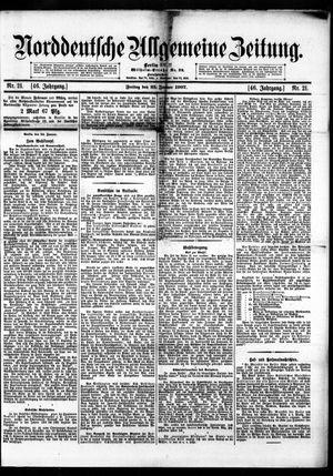 Norddeutsche allgemeine Zeitung on Jan 25, 1907