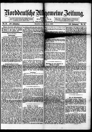 Norddeutsche allgemeine Zeitung vom 26.01.1907