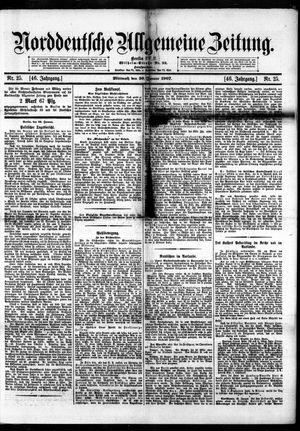 Norddeutsche allgemeine Zeitung vom 30.01.1907