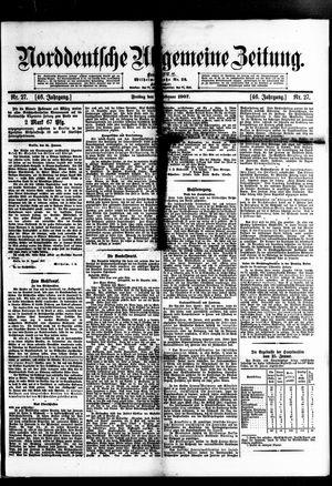 Norddeutsche allgemeine Zeitung vom 01.02.1907