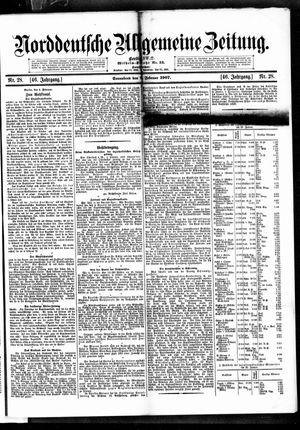 Norddeutsche allgemeine Zeitung vom 02.02.1907